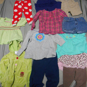 Lot of 11 girl's size 24 months clothes
